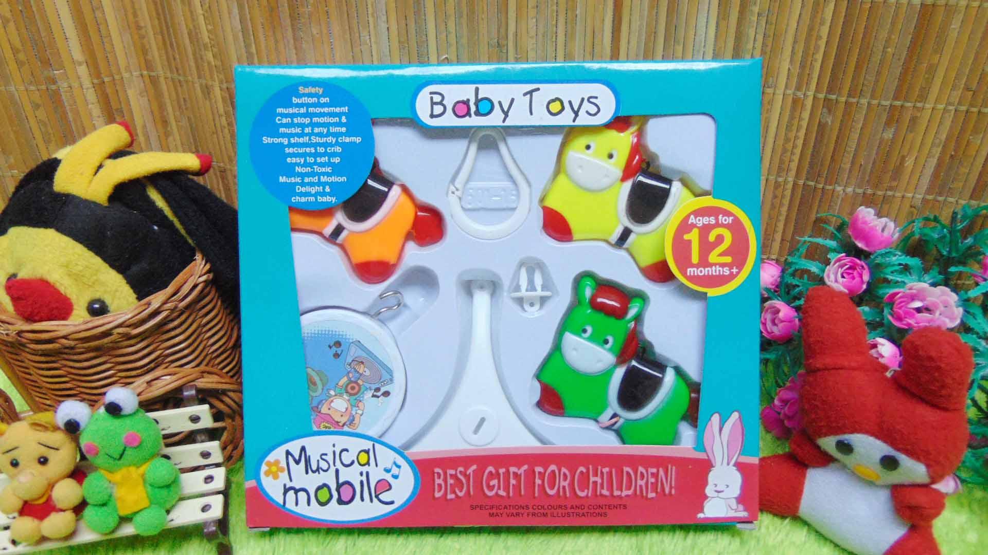 kado bayi baby gift mainan bayi gantung musical mobile baby toys motif kuda-kudaan