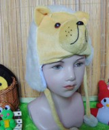 kado bayi topi binatang animal hat beruang salju bayi 0-12bulan 28 bahan lembut,juga cocok untuk kado bayi