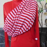 Kado Bayi Geos Gendongan Kaos Original Takasima Premium size L motif Merah Salur Pink BB Ibu 60-80kg – Cukin – Slings – Kain Gendongan Bayi