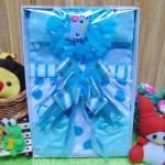 Kado Lahiran Box Paket Kado Bayi Perempuan Cewek Baby Gift Dress Biru Murah Meriah Cantik