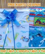 foto utama - Hadiah Baby Gift Kado Lahiran Bayi Newborn Box Paket Jumper Bayi n Rajut Biru (2)