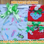 Hadiah Baby Gift Kado Lahiran Bayi Newborn Box Paket Jumper Bayi n Rajut Merah