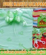 foto utama - Hadiah Baby Gift Kado Lahiran Bayi Newborn Box Paket Setelan Kutung Singlet Bayi n Rajut Hijau (1)