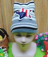 foto utama - kado bayi topi rajut lembut anak bayi 1-3th motif bintang abu (2)