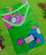 kado bayi selimut bayi bulu topi selimut bepergian bayi bludru lembut motif gajah hijau 40 bahan lembut cocok sebagai pelindung bayi ketika bepergian