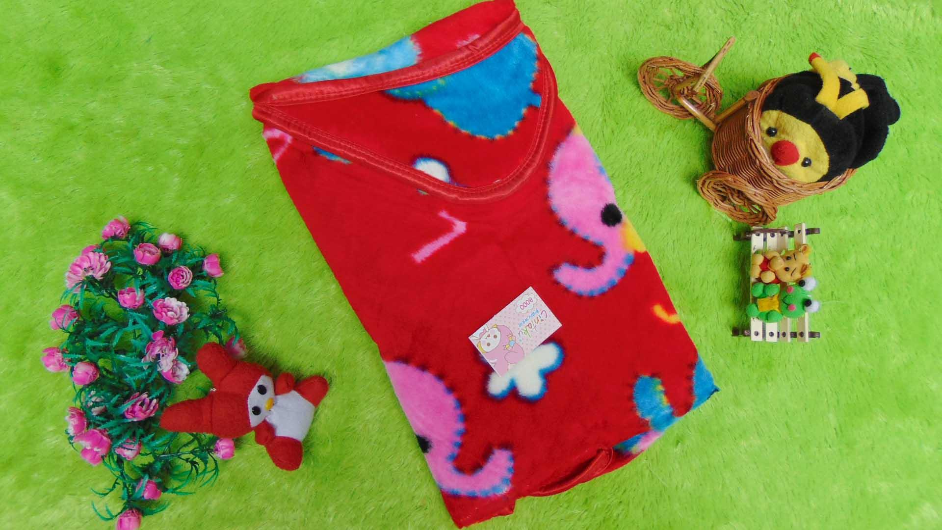 kado bayi selimut bayi bulu topi selimut bepergian bayi bludru lembut motif gajah merah 40 bahan lembut cocok sebagai pelindung bayi ketika bepergian