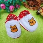 Kado bayi sepatu prewalker bayi newborn 0-6bulan winnie the pooh polka merah