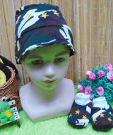 kado bayi set topi dan sepatu bayi newborn army bintang cokelat 32 bahan lembut,cocok untuk bayi 0-6bulan,bikin dedek bayi makin cakep,ada kotak mika nya cocok utk kado (2)