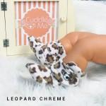 Kado sepatu bayi prewalker baby newborn 0-6bulan booties cuddleme motif leopard chreme