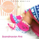 Kado sepatu bayi prewalker baby newborn 0-6bulan booties cuddleme motif scandinavian pink