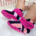 Kado sepatu bayi prewalker baby newborn 0-6bulan booties cuddleme motif stripe pink