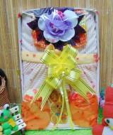 FREE KARTU UCAPAN Kado Lahiran Box Paket Kado Bayi Perempuan Cewek Baby Gift Dress Kuning Bunga Cantik 57 terdiri Dress bayi 0-9bln,turban serta sarung tangan dan kaki bayi