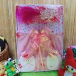 FREE KARTU UCAPAN Kado Lahiran Box Paket Kado Bayi Perempuan Cewek Baby Gift Dress Lil Love Pink Cantik