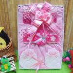 Kado Lahiran Box Paket Kado Bayi Perempuan Cewek Baby Gift Dress Pink Cantik 57 terdiri Dress bayi 0-9bln,Bando,turban dan serta sarung tangan dan kaki bayi