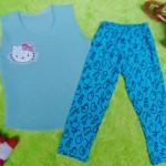 EXCLUSIVE Kado Bayi Setelan Baju Bayi 0-12bulan Atasan Kutung Wafel Plus Legging Turqoise Cantik