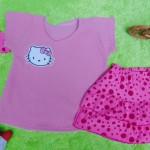 EXCLUSIVE Kado Bayi Setelan Baju Bayi 0-12bulan Atasan Wafel Plus Rok Bandana Pink Cantik