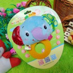 Kado bayi mainan edukasi baby gift rattle krincingan plus gigitan motif gajah