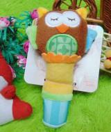 kado hadiah bayi baby gift mainan edukasi boneka rattle stick berbunyi JJ OVCE owl