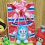 utama FREE KARTU UCAPAN Kado Lahiran Paket Kado Bayi Baby Gift Box Doraemon Merah 2in1 49rb terdiri dari setelan kaos doraemon 0-12bln dan boneka doraemon lucu (2)