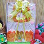 FREE KARTU UCAPAN Kado Lahiran Box Paket Kado Bayi Perempuan Cewek Baby Gift Dress Kuning HK Cantik 57 terdiri Dress bayi 0-9bln,turban serta sarung tangan dan kaki bayi