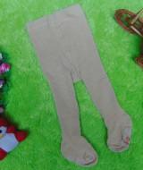 kado bayi celana panjang bayi rajut legging cotton rich lembut baby 6-12bulan anti slip polos cappuccino