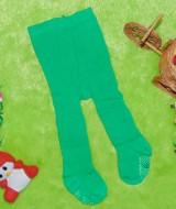 kado bayi celana panjang bayi rajut legging cotton rich lembut baby 6-12bulan anti slip polos hijau
