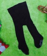 kado bayi celana panjang bayi rajut legging cotton rich lembut baby 6-12bulan anti slip polos hitam