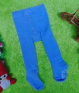 kado bayi celana panjang bayi rajut legging cotton rich lembut baby newborn 0-6bulan anti slip polos biru