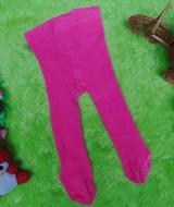 kado bayi celana panjang bayi rajut legging cotton rich lembut baby newborn 0-6bulan anti slip polos pink