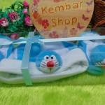 FREE KARTU UCAPAN hadiah lahiran kado bayi baby gift set topi sepatu newborn new born 0-6bulan motif doraemon