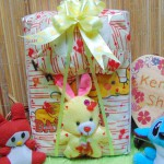 FREE KARTU UCAPAN paket kado lahiran bayi baby gift set box jaket plus boneka motif gajah kuning