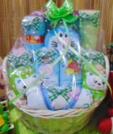 TERLARIS EKSKLUSIF paket kado bayi baby gift parcel bayi parcel kado bayi kado lahiran rotan bulat hijau