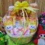 TERLARIS EKSKLUSIF paket kado bayi baby gift parcel bayi parcel kado bayi kado lahiran rotan bulat kuning