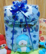 foto utama - FREE KARTU UCAPAN paket kado lahiran bayi baby gift set box jaket plus boneka motif baby cow biru (2)
