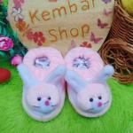 Kado bayi baby gift set sepatu prewalker alas kaki newborn 0-6bulan lembut motif kelinci soft pink