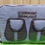 kado bayi tas perlengkapan bayi diapers bag baby king square chocolate