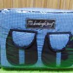 kado bayi tas perlengkapan bayi diapers bag baby king square denim