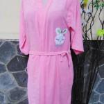 Kimono handuk jubah mandi dewasa JUMBO pink