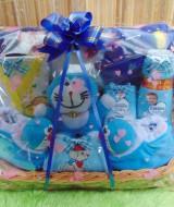 Foto Utama parsel bayi keranjang eksklusif Selimut hangat lembut karakter istimewa Doraemon