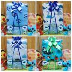 Foto utama FREE KARTU UCAPAN Kado Lahiran Paket Kado Bayi Baby Gift Box Selimut Carter Plus Baby Sock BOY
