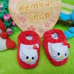 foto utama kado bayi baby gift set sepatu prewalker alas kaki newborn 0-6bulan lembut motif Hello Kitty Merah