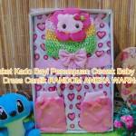 FREE KARTU UCAPAN Kado Lahiran Box Paket Kado Bayi Perempuan Cewek Baby Gift Dress Cantik RANDOM WARNA ACAK (2)