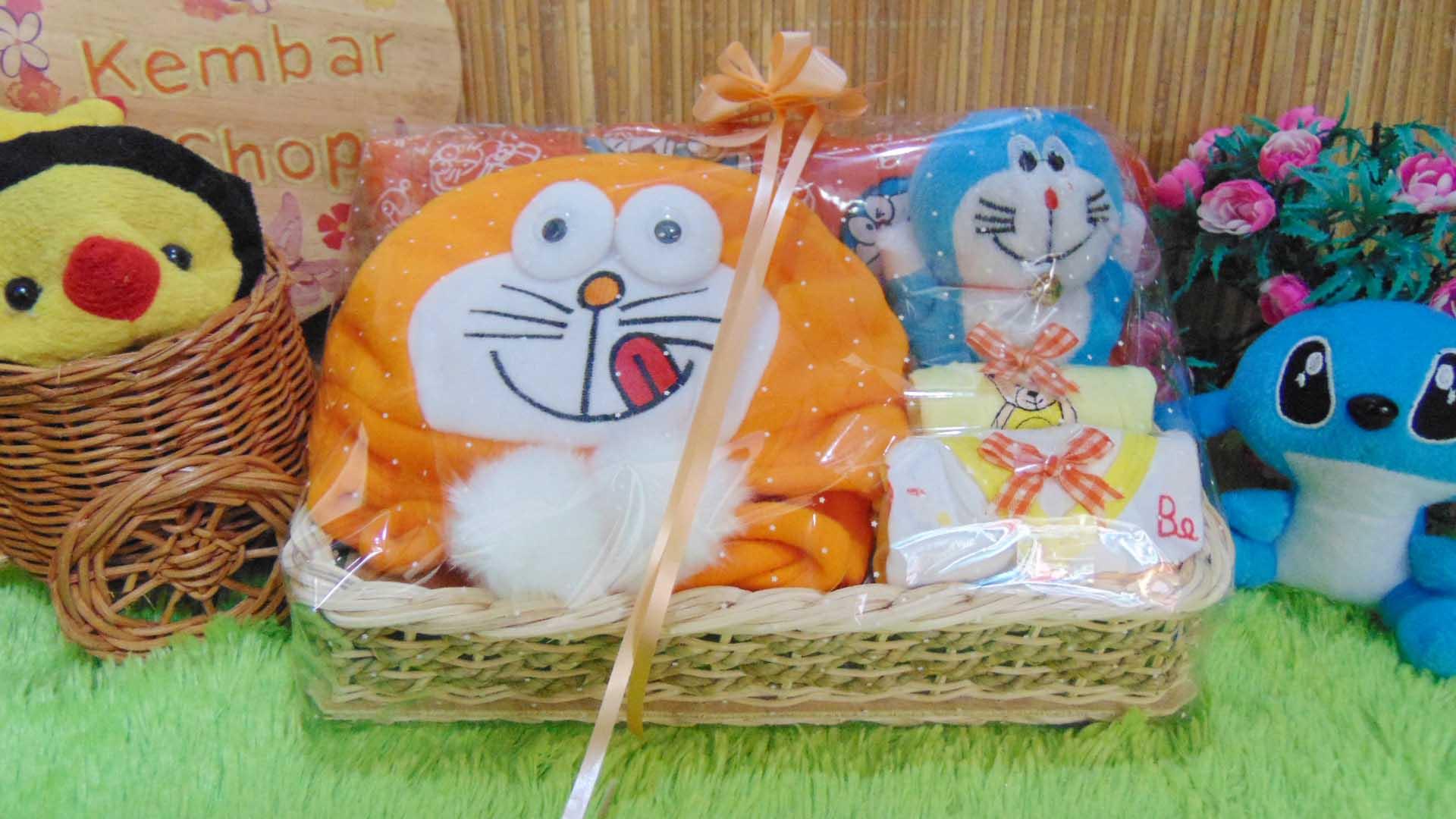 TERLARIS paket kado bayi baby gift parcel bayi parcel kado bayi kado lahiran Spesial Doraemon komplit ANEKA WARNA (2)