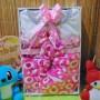 foto utama FREE KARTU UCAPAN Kado Lahiran Box Paket Kado Bayi Perempuan Cewek Baby Gift Dress Boots Bandana bunga pink polka pink