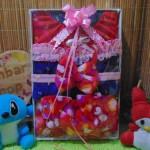 foto utama FREE KARTU UCAPAN Kado Lahiran Box Paket Kado Bayi Perempuan Cewek Baby Gift Dress Boots Bandana love merah biru elektrik