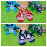 foto utama sepatu prewalker balet bayi renda bunga bahannya empuk untuk 0-6bulan
