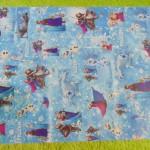 sampul kado bayi kertas kado lahiran baby gift motif Frozen Elsa Anna blue