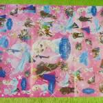 sampul kado bayi kertas kado lahiran baby gift motif Frozen Pink