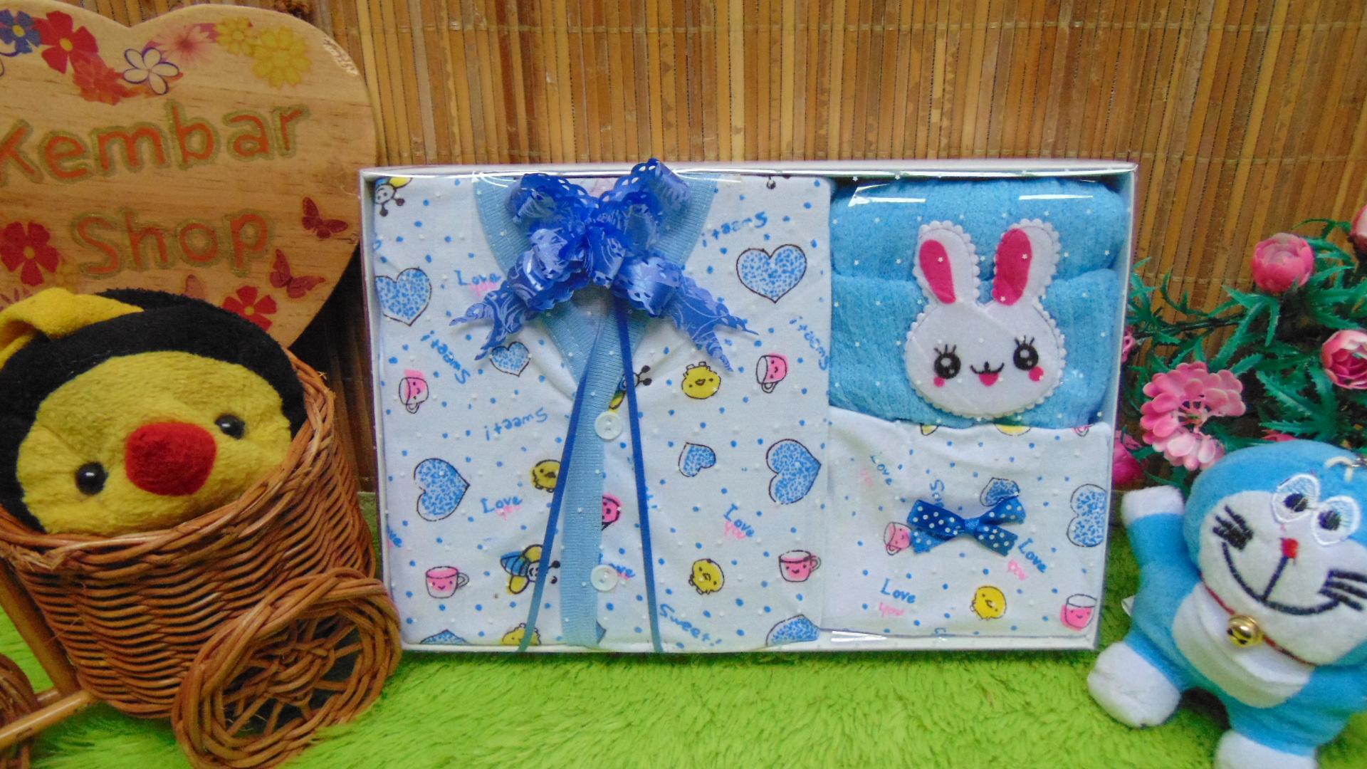 FREE KARTU UCAPAN Kado Lahiran Paket Kado Bayi Newborn Baby Gift Box Lebah Rajut Full Package Aneka Warna (4)