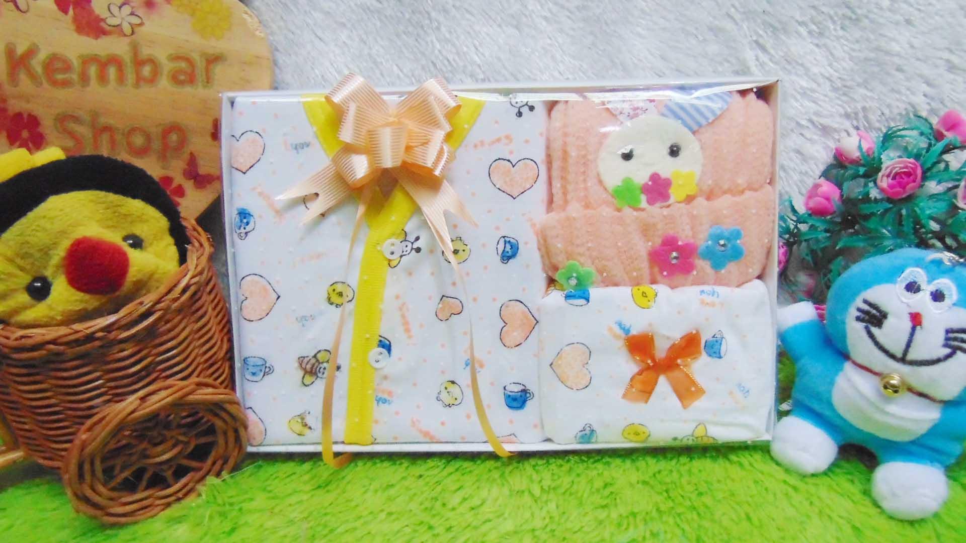 FREE KARTU UCAPAN Kado Lahiran Paket Kado Bayi Newborn Baby Gift Box Lebah Rajut Full Package Aneka Warna (7)